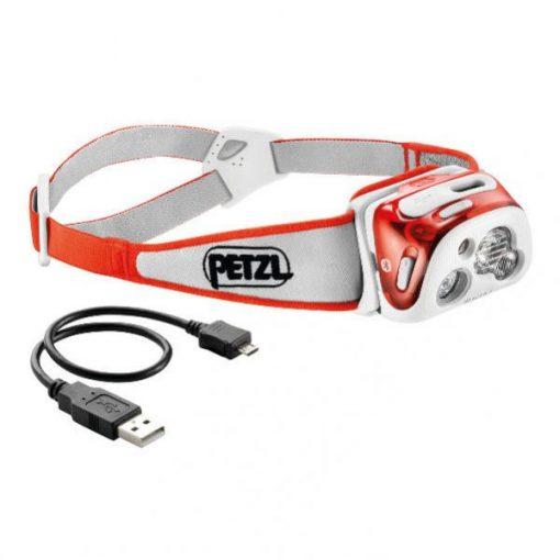 Linterna Frontal PETZL REACTIK + Rojo
