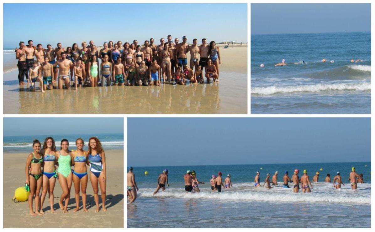 Inauguración del nuevo circuito para nado libre en la Playa de Camposoto