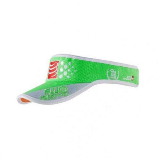 visera compressport fluo verde