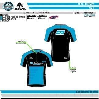 Camiseta Técnica Trail con Cremallera Austral CD TrailRunner Store