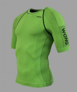 Camiseta compresiva Wong verde