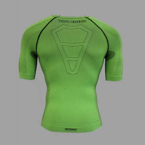 Camiseta compresiva Wong verde espalda