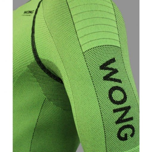 Camiseta compresiva Wong verde manga