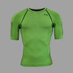 Camiseta compresiva Wong verde parte delantera