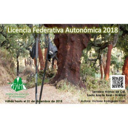 licencia federativa de montaña Andalucía 2018