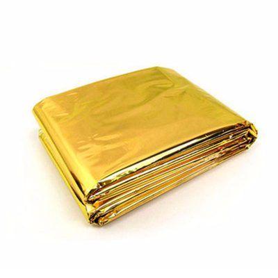 Manta térmica ligera oro/plata