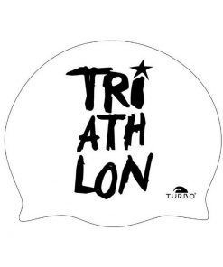 Gorro natación Turbo Triatlon blanco