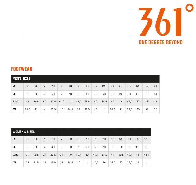 Tabla de talla de la marca 361º
