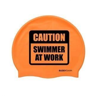 Gorro de natación de silicona Buddyswim naranja