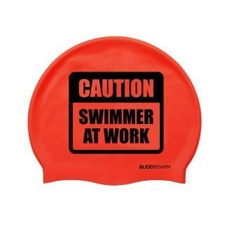 Gorro de natación de silicona Buddyswim rojo