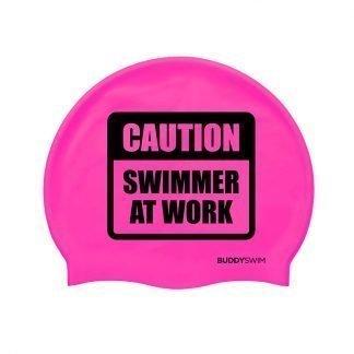 Gorro de natación de silicona Buddyswim rosa