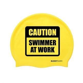 Gorro de natación de silicona Buddyswim amarillo