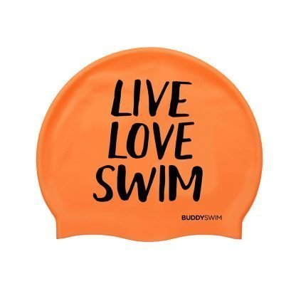 Gorro natación Buddyswim Live Love Swim narnaja