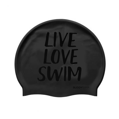 Gorro natación Buddyswim Live Love Swim negro